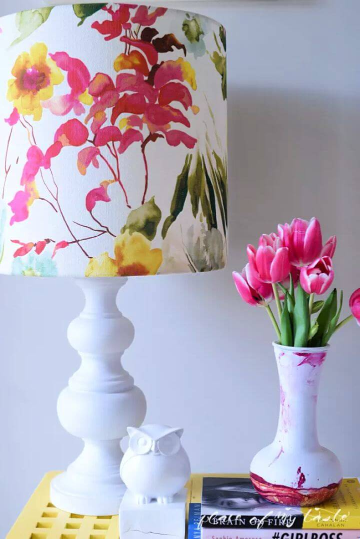 printed lampshade, diy lampshade, how to, do it yourself, creative,