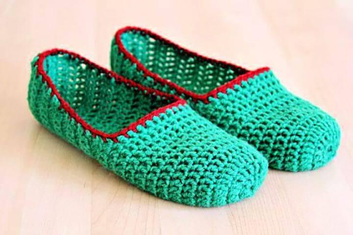 easy crochet, crochet slippers, diy crafts, diy projects, diy ideas,