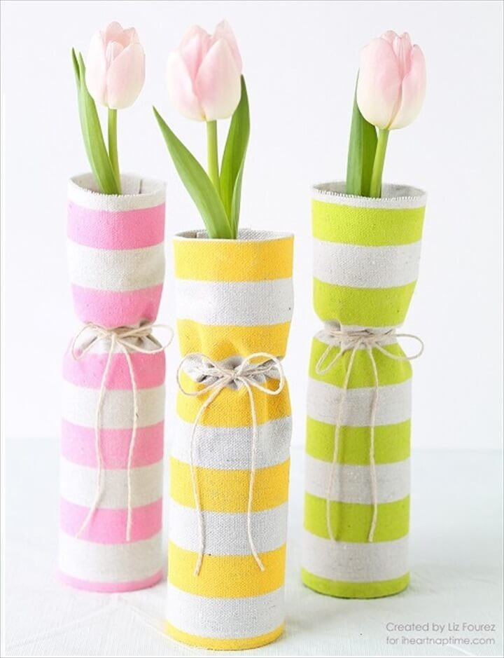 fabric spring, vases ideas, vases for sell, vases holiday