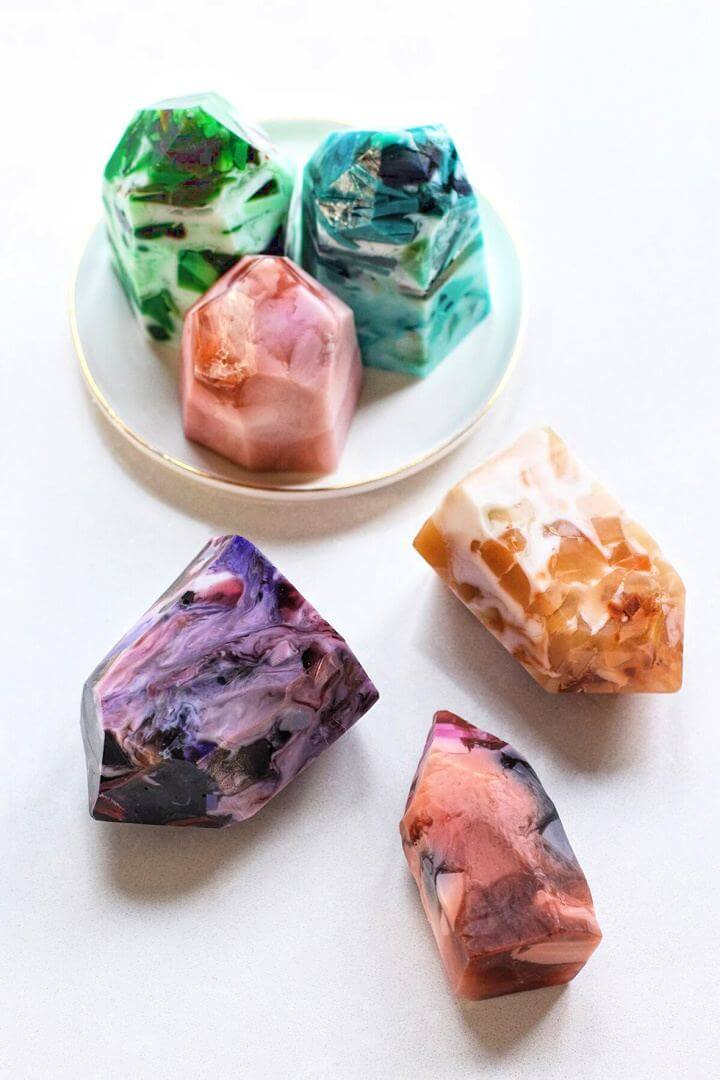 gemstone soap, honestly gift, mother day, do it yourself