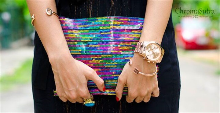 colorful clutch, diy clutches, diy crafts, diy fashion