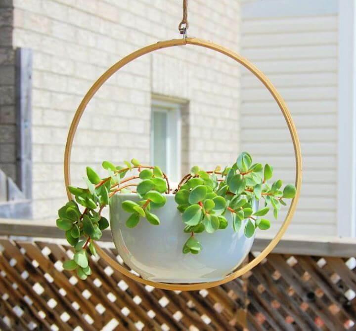 hanging idea, diy hanging, planter, plants, garden