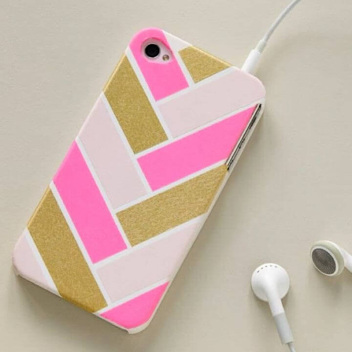 mobile decor, mobile cover, washi tape phone, creative ideas, creative crafts, how to, easy to