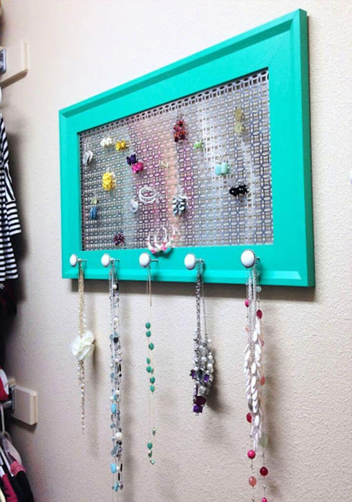 hanging ideas, jewelry organizer