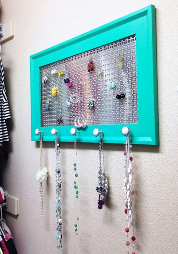 hanging ideas, jewelry organizer