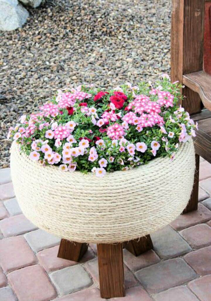 old tyre. garden tyre, reuse tyre, how to