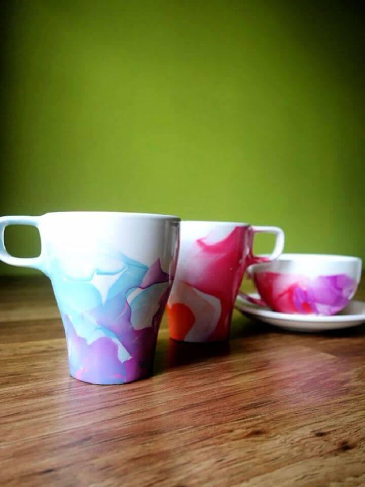 simple mug, painted mug, craft mug, diy crafts idea, diy projects