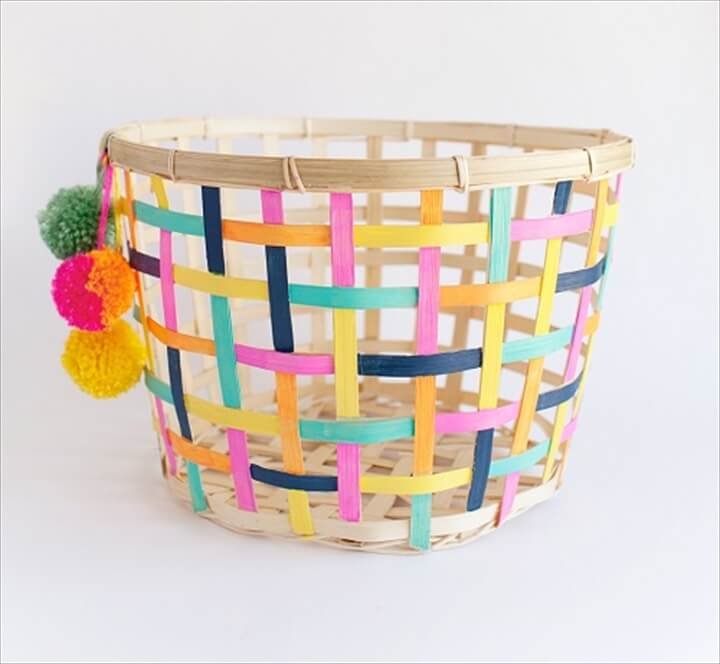 painted basket, make and sell ideas,
