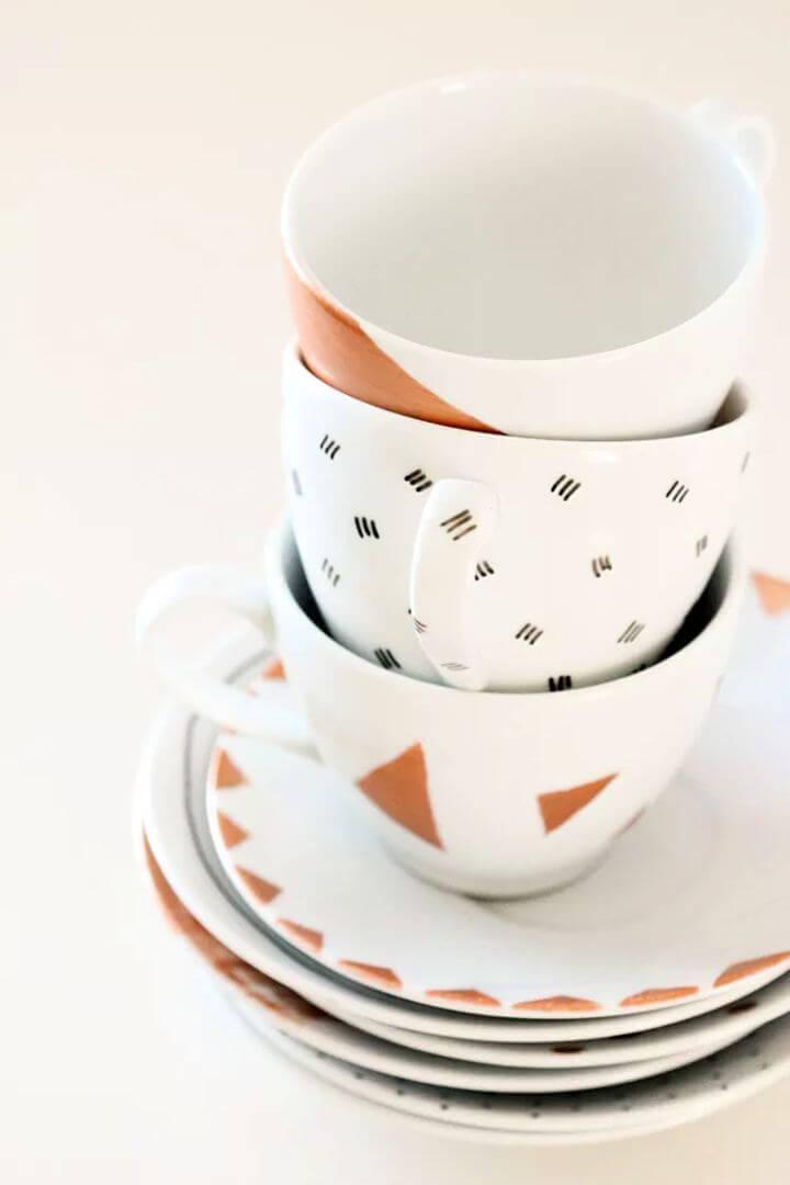 painted mug, porcelain mug, simple mugs, dishwasher mug