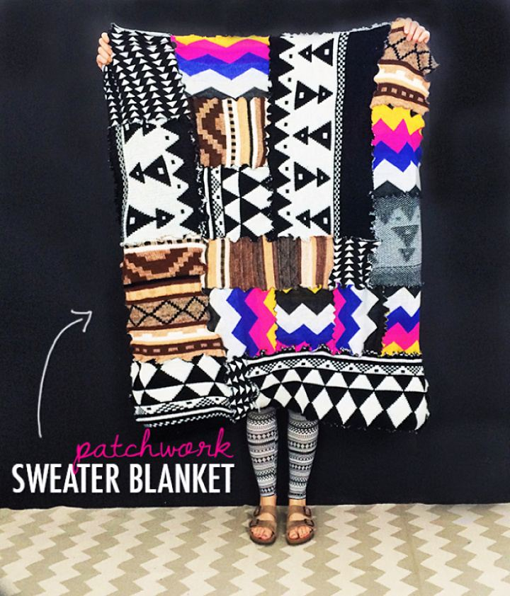 diy tutorials, diy blankets, diy crafts, diy projects, diy sweater blanket