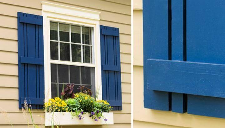 window decor, top side, simple idea, shutters crafts, diy ideas