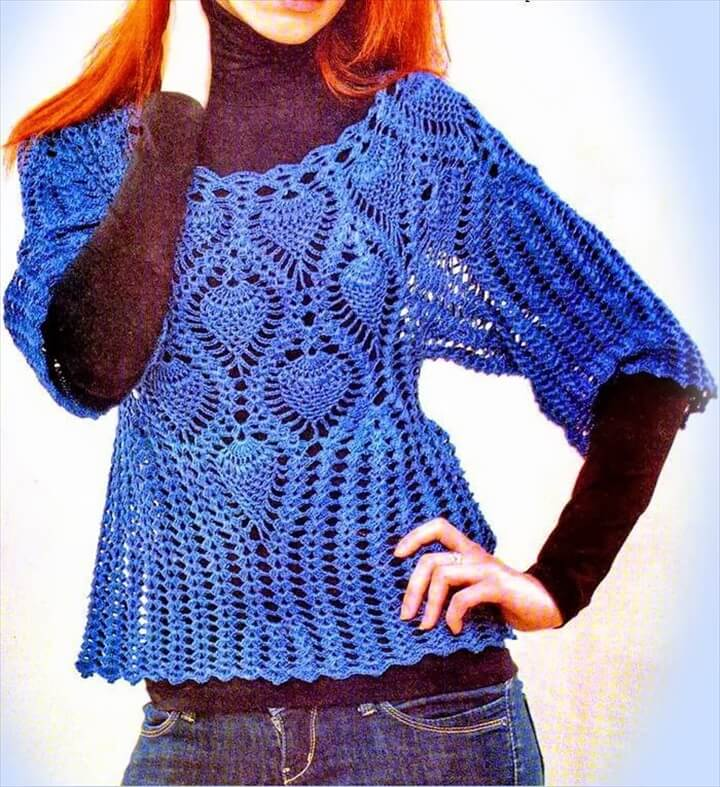sophisticated lace sweater, lace sweater, free crochet, how to, easy to