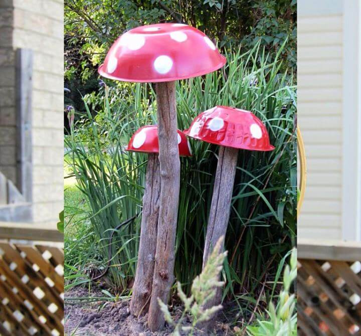 tall toadstools, garden idea, diy projects, crafts, projects, do it yourself, ideas,