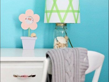 washi tape, washi tape lampshade, diy washi tape, diy crafts, diy projects, diy ideas