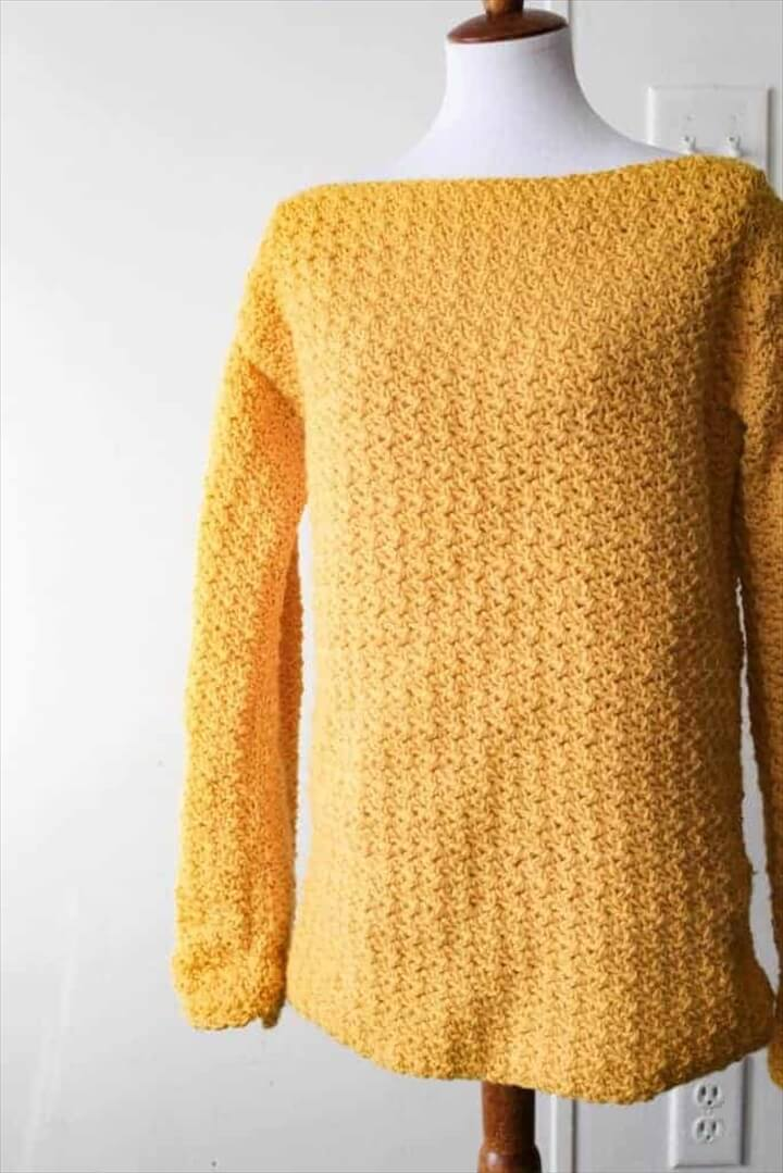 crochet sweater, crafts ideas, great, yellow sweater,
