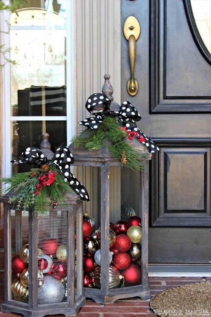christmas day lanters, lanters for christmas, holiday gift, crafts with holiday