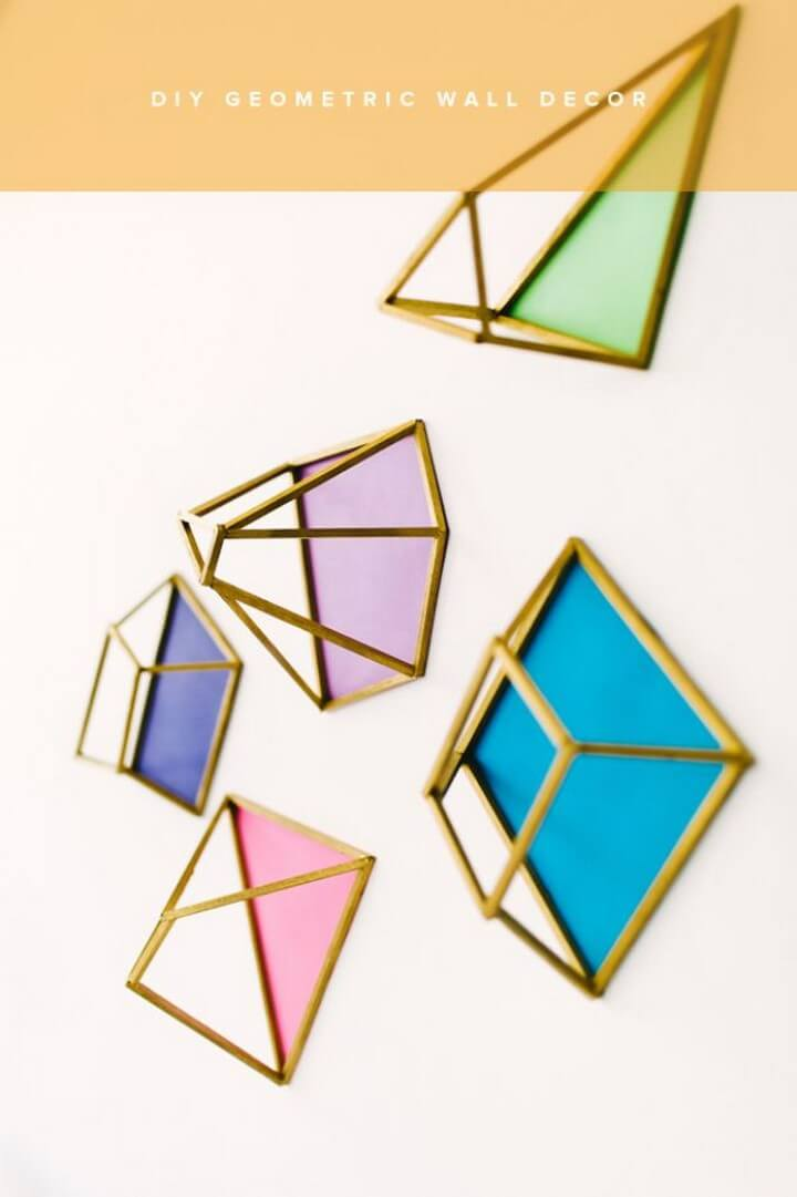 geometric, wall decor, diy ideas, diy crafts and projects