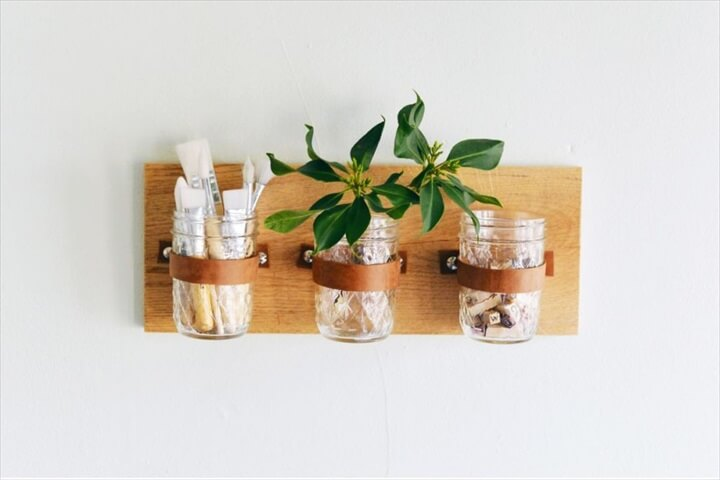 mason jar, wall organizer, diytomake, how to crafts,