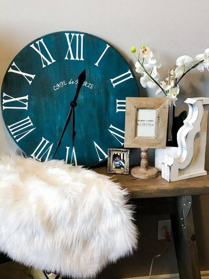 roman number clock, clock room decor, diy clock ideas, best ideas, tutorial