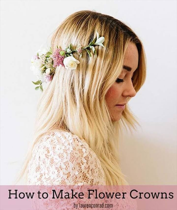 diy fashion, flower crown, make and sell, diy projects, how to