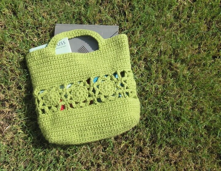 flowers,bag, burst handbag, free crochet, free ideas