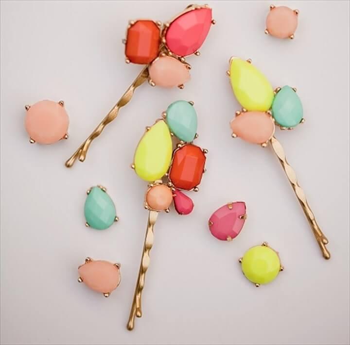 bobby pins, gemstone ideas, crafting, fashion, diytomake, how to