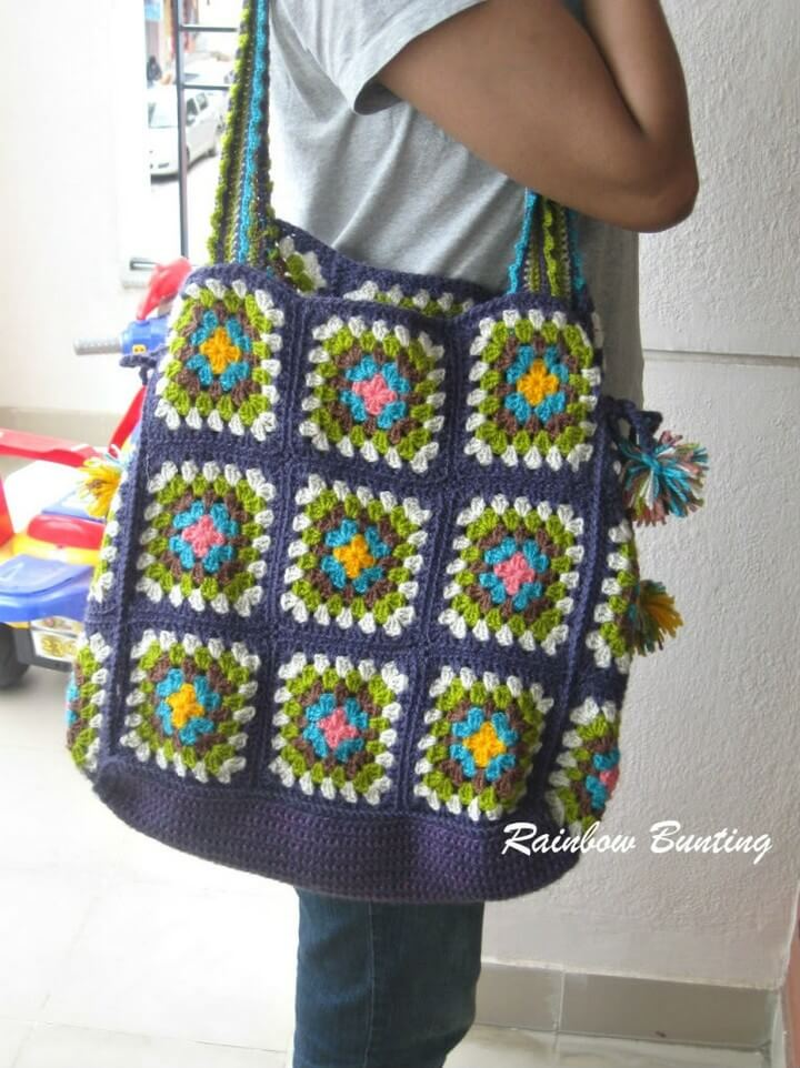 granny goes, shopping bags, crochet ideas,