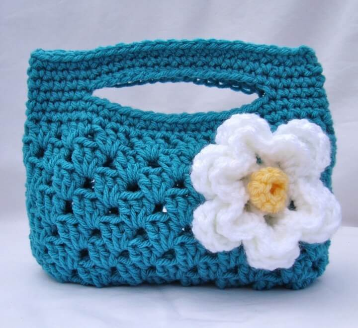 crochet, bag, with flowers, nice, crochet, how to, handmade