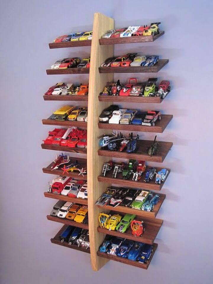 handmade display shelf, diy shelf, crafts shelf