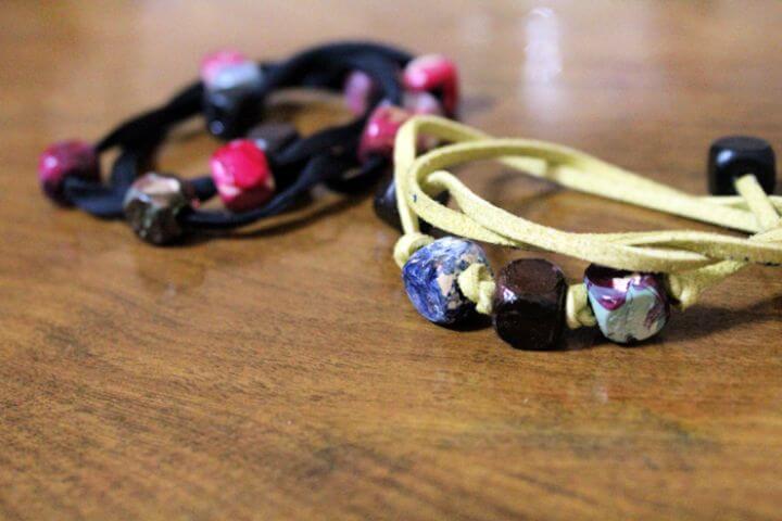 marble wrap bracelets, unique ideas, easy ideas, how to