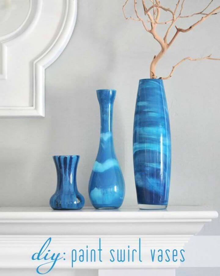 paint swirl vases, decor ideas, make and sell projects