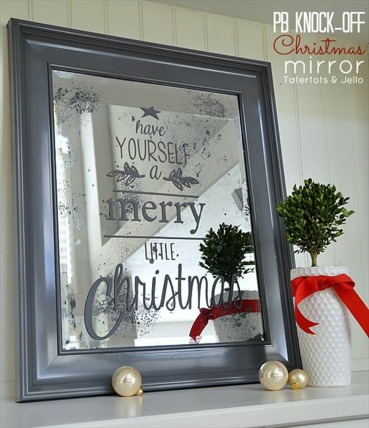 pottery barn, christmas, mirror christmas projects