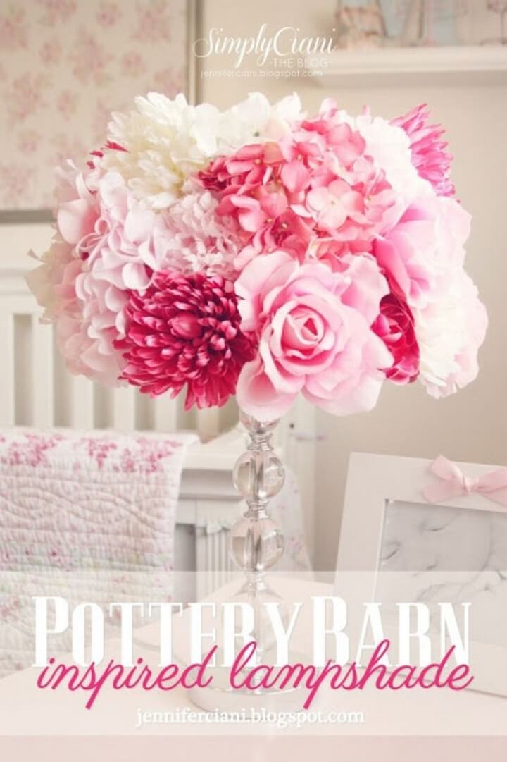 pottery lampshade, flowers for bedroom, decoration piece, lampshade for bedroom, lampshade tutorial