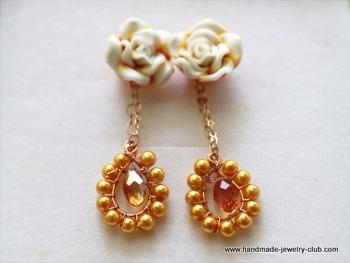 rosy earrings, diy earrings, jewelry earrings, how to, make and sell