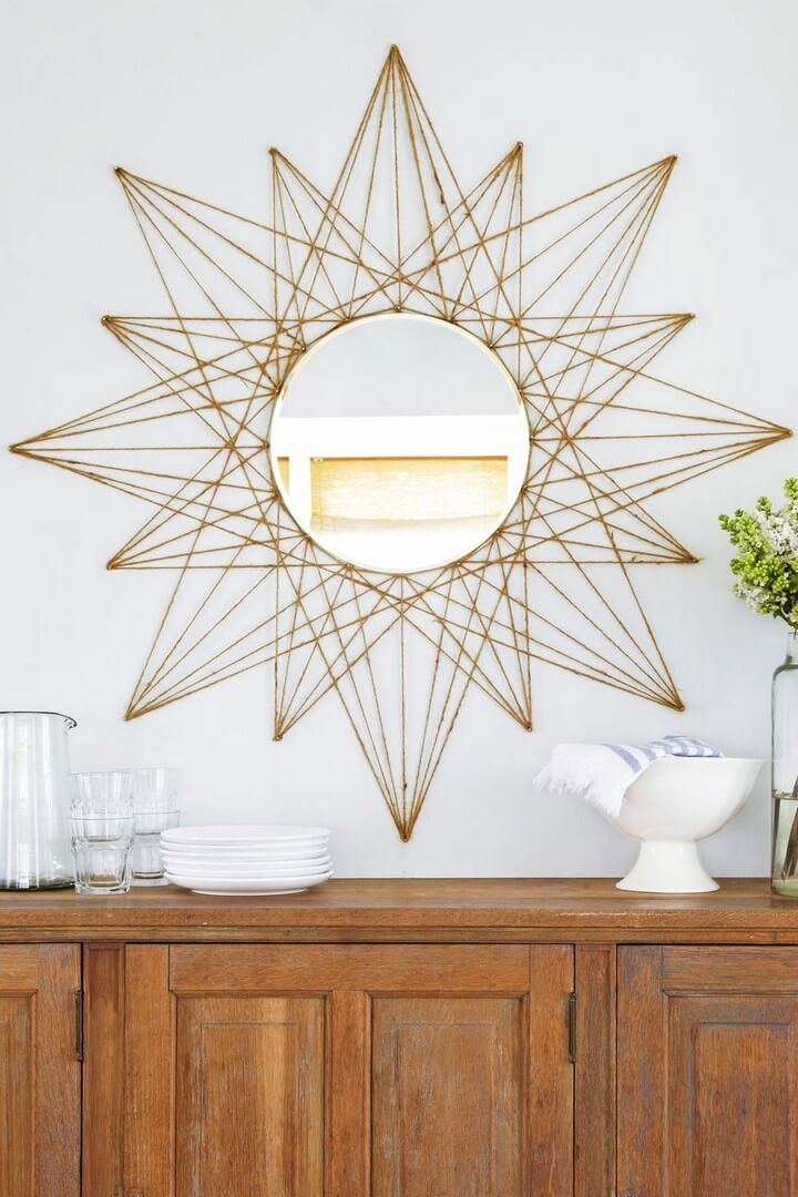 star mirror room decor, how to, crafts and projects, Do it Yourself, wall decor ideas, Room decor tutorial