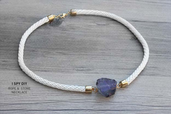 stone necklace, jewelry projects, do it yourself, diy projects, diy ideas