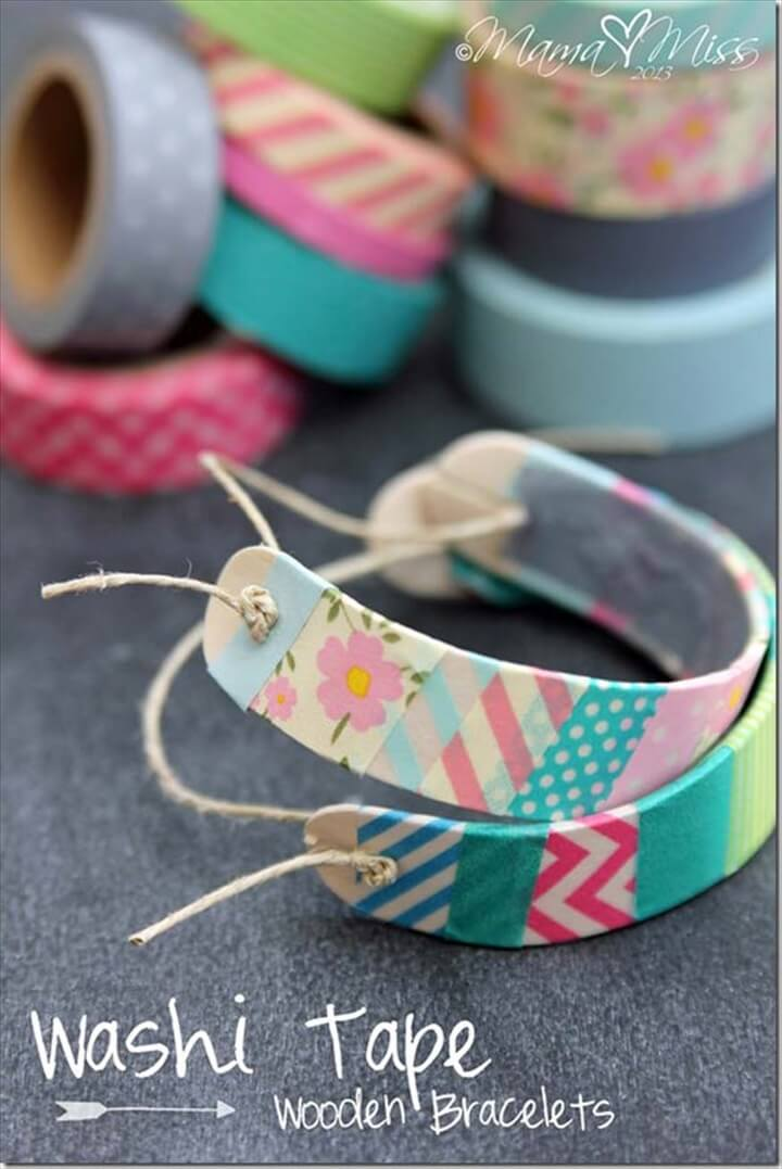 washi tape bracelets, bracelets, diy jewelry make and sell, earn money