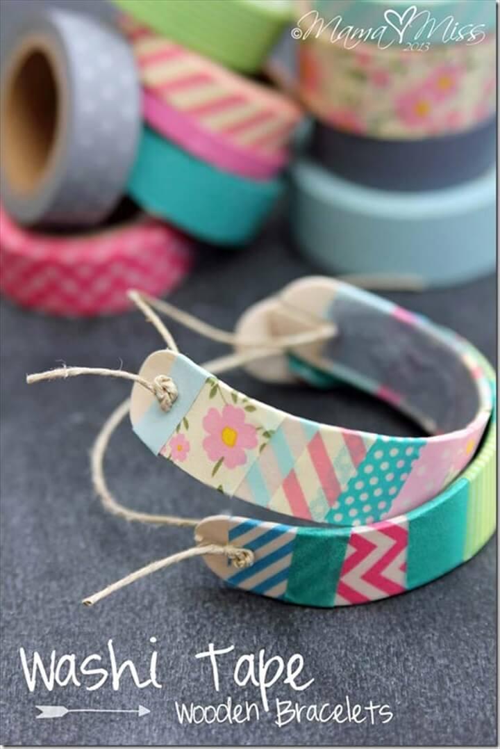 washi tape bracelets, bracelets, diy jewelry make and sell, earn money