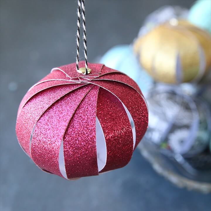 christmas ornaments, crafts with paper, christmas craft