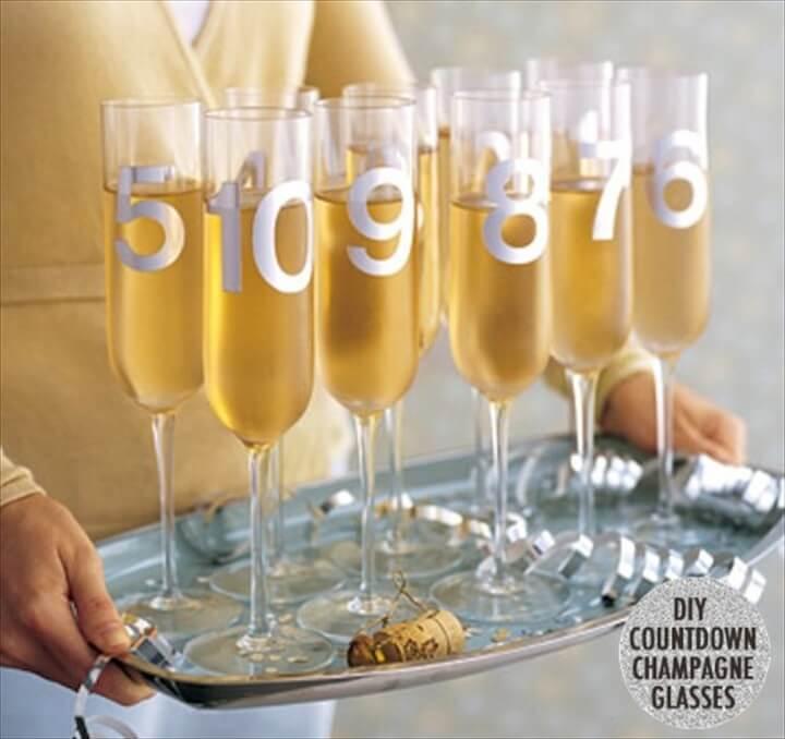 countdown, champagne glass, new year 2019