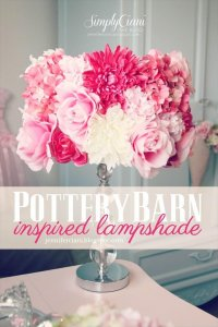 flowers lampshade idea, lamp shad, diy projects, diy ideas