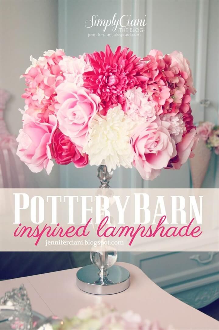 flowers lampshade idea, lamp shad, diy projects, diy ideas