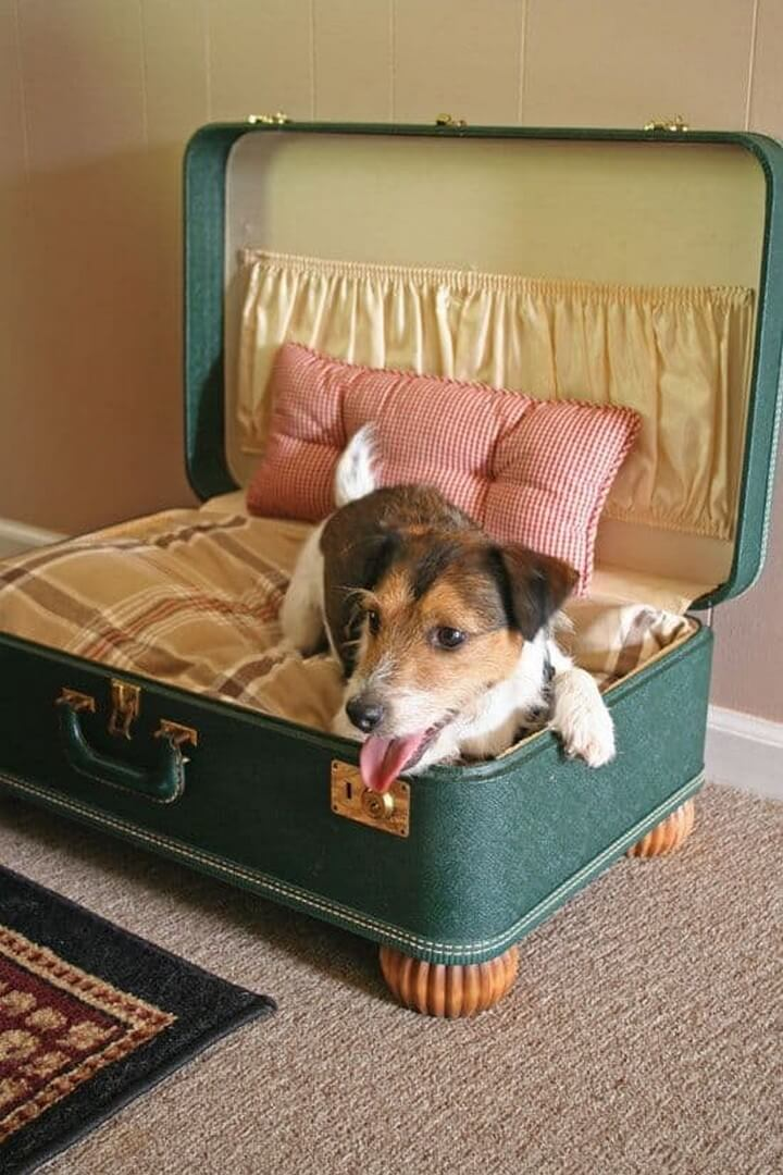 travel dog house, travel dog bed, diy ideas, dog pet bed