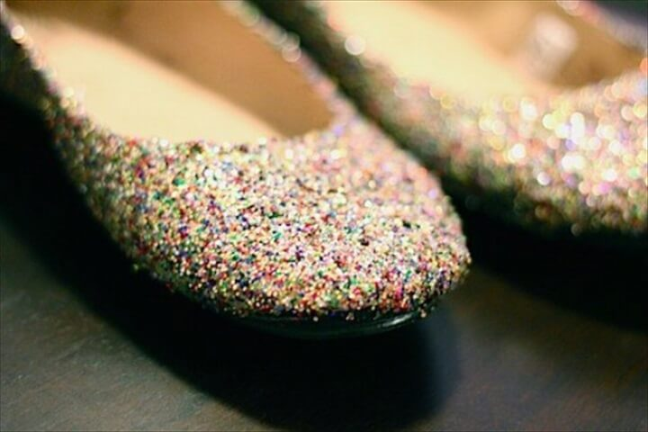 glitter shoes, diy shoes, new year shoes, new year gift,