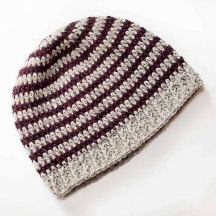 striped, crochet hats, 15 crochet hat ideas, diytomake.com how to crochet