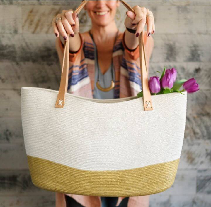 Amazing DIY Rope Tote Bag Tutorial