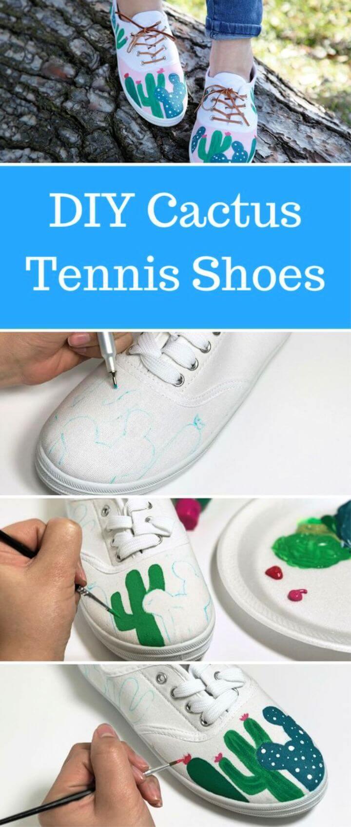 Cactus Tennis Shoes Tutorial
