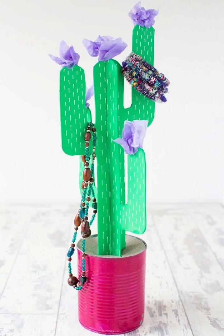 Cardboard Cactus DIY Project