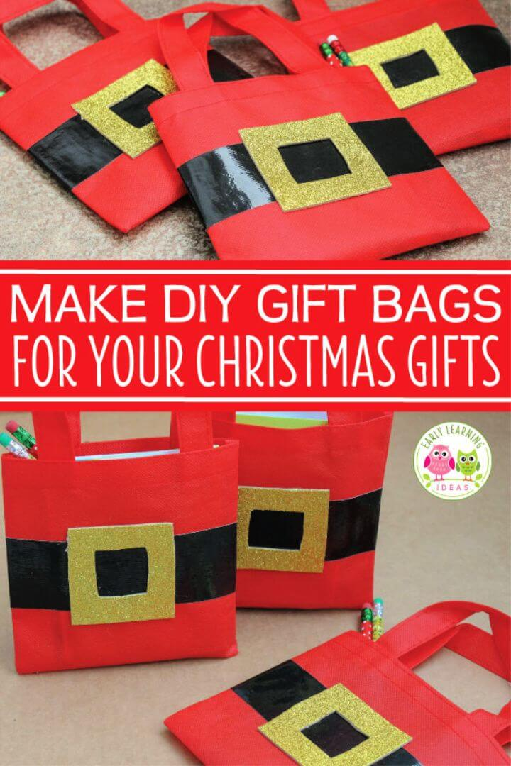 Christmas Gift Bags for Kids Make DIY Santa Bags