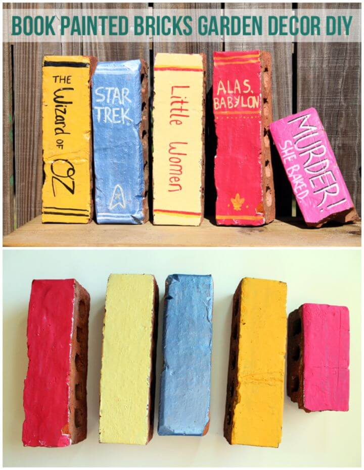 Create A DIY Book Painted Bricks